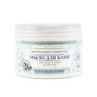 Babička Agafa - Prírodné biele sibírske mydlo do kúpeľa pre starostlivosť o telo a vlasy - 500 ml