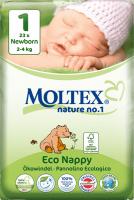 MOLTEX - Nature no. 1 – jednorázové plienky Veľkosť: 2 - 4 kg