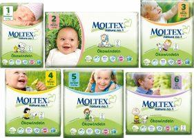 MOLTEX - Nature no. 1 – jednorázové plienky Veľkosť: 4 - 9 kg