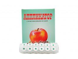 Akupresúrny masážny koberček s plastovými ihličkami
